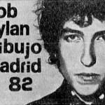 Bob Dylan y su banda en dibujo madrid